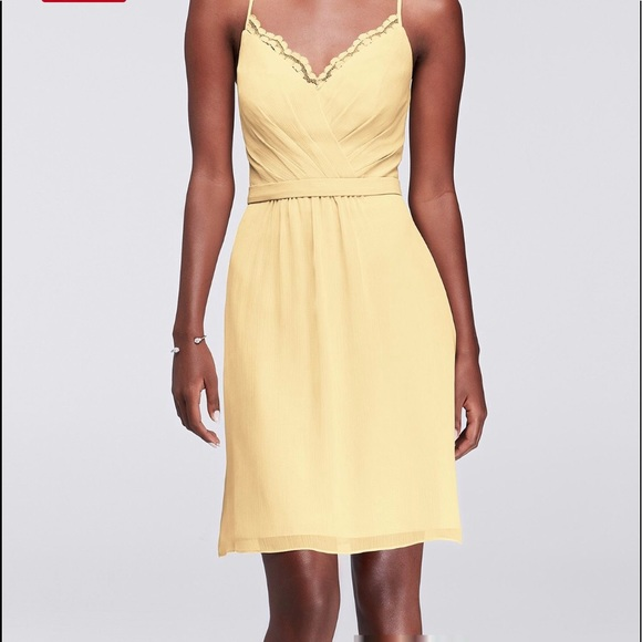 David's Bridal Yellow Plus Size Dress